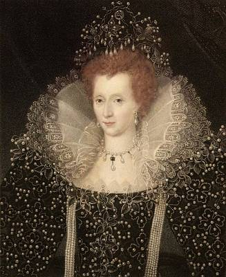 Elizabeth I Art Print by Paul D Stewart