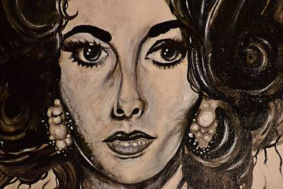 Elizabeth Art Print by Sandro Ramani