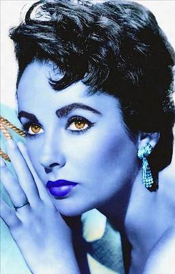 Elizabeth Taylor Art Print by Art Cinema Gallery
