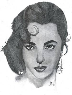 Elizabeth Taylor Drawing - Elizabeth Taylor by Bobby Dar