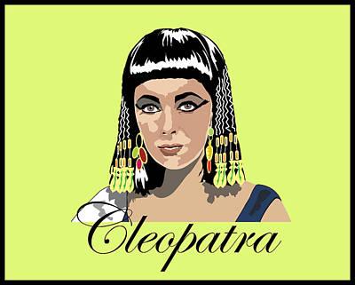 Elizabeth Taylor Digital Art - Elizabeth Taylor - Cleopatra by Andy Donald