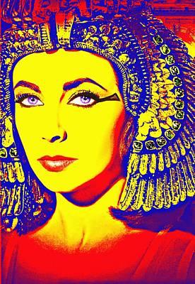 Pharaoh Mixed Media - Elizabeth Taylor In Cleopatra by Art Cinema Gallery