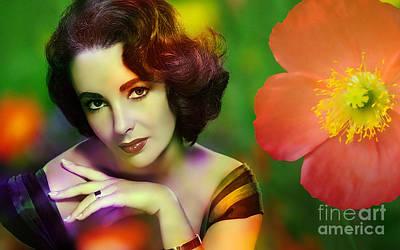Elizabeth Taylor Mixed Media - Elizabeth Taylor by Marvin Blaine