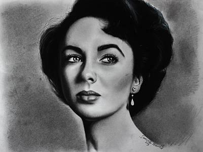 Elizabeth Taylor Drawing - Elizabeth Taylor by Samantha Howell