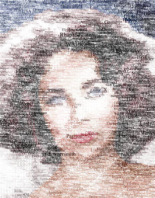 Digital Art - Elizabeth Taylor Typo by Taylan Apukovska