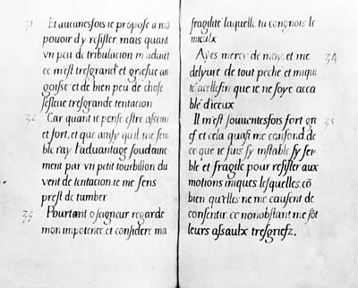 Elizabethan Manuscript Art Print