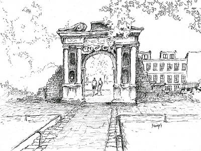 Drawing - Elizabeth's Gate by Sam Sidders
