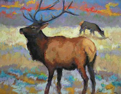 Painting - Elk by Carol Jo Smidt
