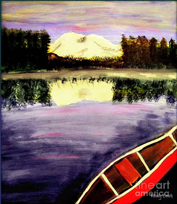 Painting - Elk Lake In Oregon  by Mindy Bench