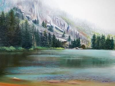 Elk Lake Mist Art Print