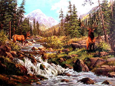 Painting - Elk Meadows by W  Scott Fenton