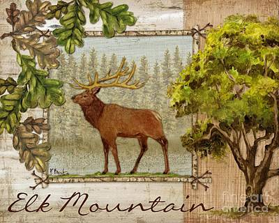 Painting - Elk Mountain by Paul Brent