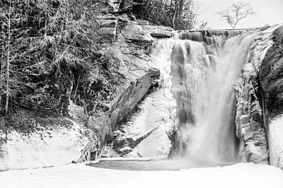 Photograph - Elk River Falls Monochrome by Randy Scherkenbach