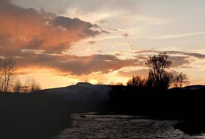Elk River N Pilots Nob Sunset Original by Daniel Hebard