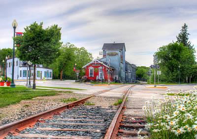 Elkhart Lake Off The Rail And Feed Mill Market Art Print
