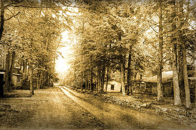 Elkmont Ghost Town Art Print by Michael Eingle