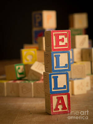 Ella Photograph - Ella - Alphabet Blocks by Edward Fielding