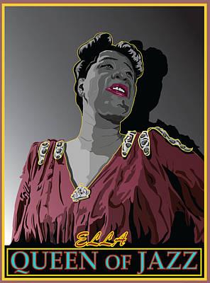 Ella Fitzgerald Jazz Singer Art Print by Larry Butterworth