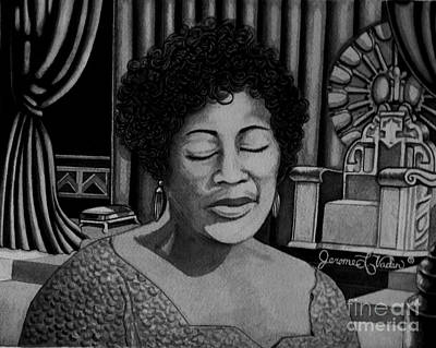 Animals Painting - Ella Fitzgerald by JL Vaden