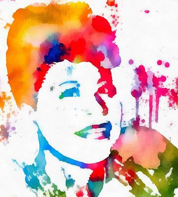 Ella Fitzgerald Paint Splatter Art Print by Dan Sproul
