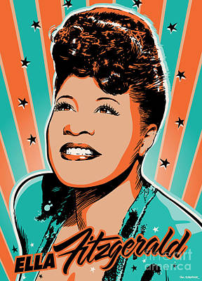 40s Digital Art - Ella Fitzgerald Pop Art by Jim Zahniser