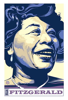 Jazz Rights Managed Images - Ella Fitzgerald Portrait Royalty-Free Image by Garth Glazier