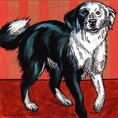 Border Collie Painting - Ella by Katherine Plumer
