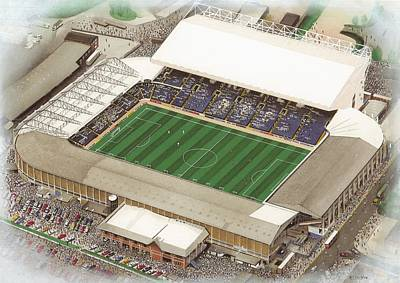 Leeds Painting - Elland Road - Leeds United by Kevin Fletcher