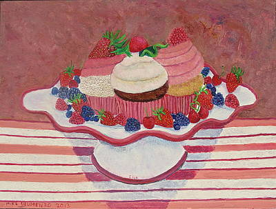 Painting - Ella's Cup Cakes by Mike De Lorenzo
