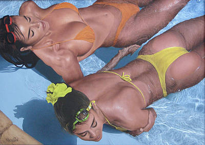 Paco Painting - Elle And Kathy by Paco Leal