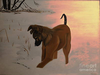 Art Print featuring the painting Ellee by Stuart Engel