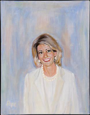 Painting - Ellen C. Williams by Bruce Ben Pope
