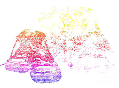 Converse Shoe Digital Art - Ellen's Shoes by Lyn Jenner