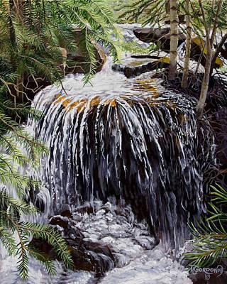 Cortez Painting - Ellen's Waterfall by Timithy L Gordon