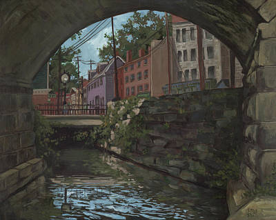 Ellicott City Bridge Art Print by Edward Williams