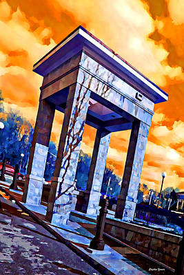 Md Digital Art - Ellicott City Courthouse Path by Stephen Younts