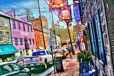 Md Digital Art - Ellicott City Street by Stephen Younts