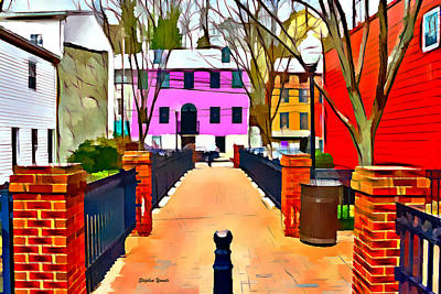 Ellicott City Walkway Art Print by Stephen Younts