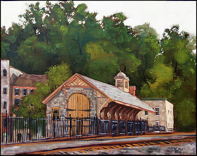 Ellicott Mills Station Art Print by Edward Williams
