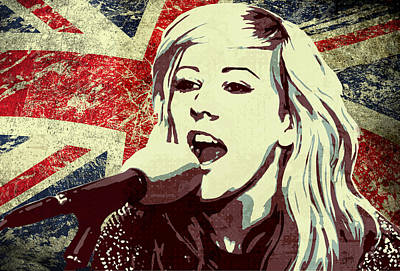 Fifty Shades Of Grey Painting - Ellie Goulding 3 by Irina Effa