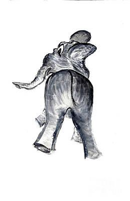 Painting - Ellie The Elephant by Judy Hall-Folde