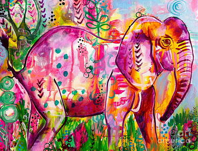 Painting - Ellie The Elephant by Kim Heil