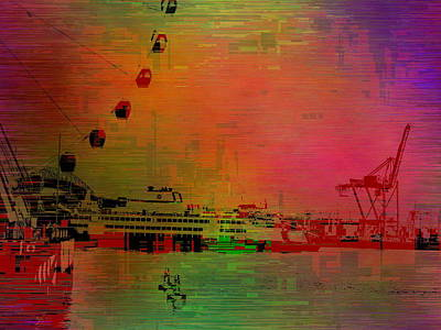 Digital Art - Elliott Bay Cubed by Tim Allen