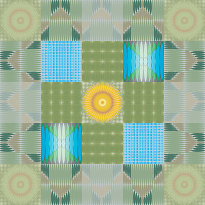 Art Print featuring the digital art Ellipse Quilt 1 by Kevin McLaughlin