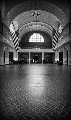 Shiny Floors Photograph - Ellis Island Great Hall by Stephen Stookey