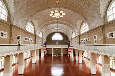 Window Photograph - Ellis Island  by Oscar Gutierrez