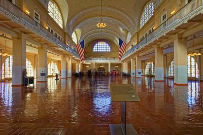 Ellis Island Registry Room Art Print