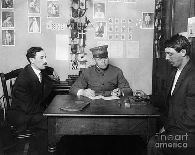 Official Watch Photograph - Ellis Island: Testing, C1914 by Granger