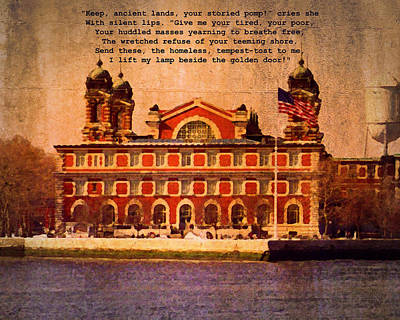 Photograph - Ellis Island by Timothy Bulone