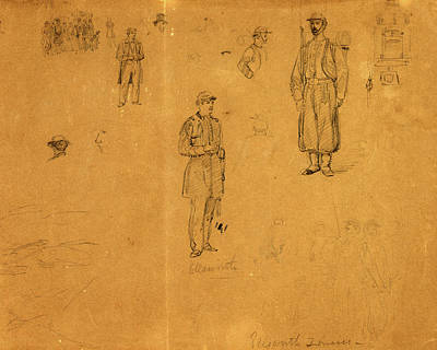 Ellsworth Zouaves, Drawing, 1862-1865, By Alfred R Waud Art Print by Quint Lox